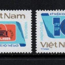 Sellos: VIETNAM 955J/55K** - AÑO 1989 - CENTENARIO DE LA UNION INTERPARLAMENTARIA. Lote 87692700