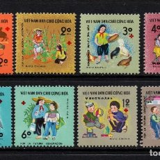 Sellos: VIETNAM DEL NORTE 660/67** - AÑO 1970 - POR LA INFANCIA. Lote 88296676