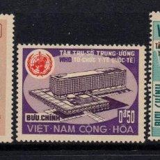 Selos: VIETNAM DEL SUR 294/96** - AÑO 1966 - NUEVA SEDE DE LA ORGANIZACIÓN MUNDIAL DE LA SALUD. Lote 88946708