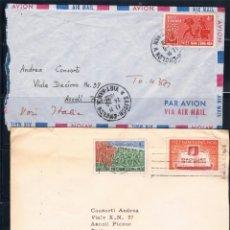 Sellos: VIETNAN Y CONGO BELGA. CONJUNTO DE 4 SOBRES CIRCULADOS. Lote 89554840