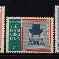 Sellos: VIETNAM DEL SUR 301/03** - AÑO 1966 - 20º ANIVERSARIO DE UNESCO. Lote 91411435