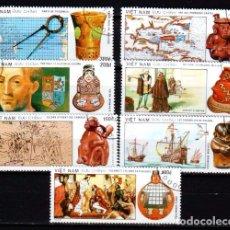 Sellos: VIETNAM. 1064/68 DESCUBRIMIENTO DE AMÉRICA POR CRISTÓBAL COLÓN. USADOS1,45. 1990. Lote 97036775