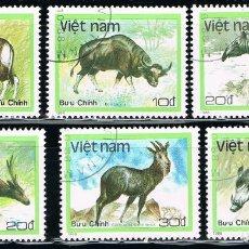 Sellos - VIETNAM - LOTE DE 6 SELLOS - ANIMALES (USADO) LOTE 7 - 106657287