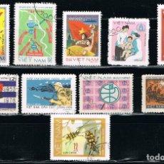 Sellos: VIETNAM - LOTE DE 10 SELLOS - VARIOS (USADO) LOTE 11. Lote 114081155