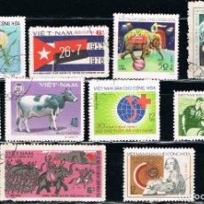 Sellos: VIETNAM - LOTE DE 10 SELLOS - VARIOS (USADO) LOTE 12. Lote 114081775
