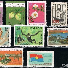Sellos: VIETNAM - LOTE DE 10 SELLOS - VARIOS (USADO) LOTE 13. Lote 114081983