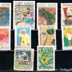 Sellos: VIETNAM - LOTE DE 10 SELLOS - VARIOS (USADO) LOTE 16. Lote 117219115