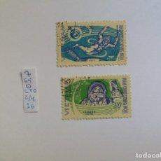 Sellos: 2 SELLOS - VIETNAM 1965, COSMOS, COSMONAUT GAGARIN, USADO (*). Lote 132845414