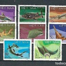 Sellos: VIETNAM,1980,FAUNA MARINA,USADO,YVERT 237-244,USADOS. Lote 143102314