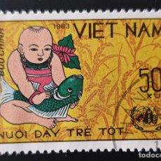 Sellos: VIETNAM - DÍA MUNDIAL DE LA ALIMENTACIÓN - 1983 - 50 XU. Lote 146483846
