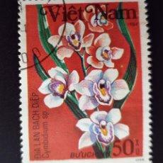Sellos: VIETNAM - ORQUÍDEA - 1984 - 50 XU. Lote 146483970