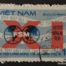 Sellos: SELLO CTO CLÁSICO ORIGINAL DE VIETNAM 1D 1986- BERLIN (*). Lote 147972760
