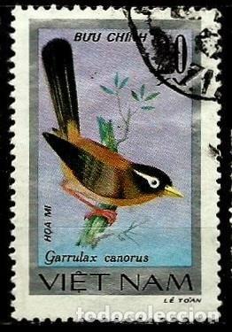 VIETNAM SCOTT: 914-(1978) (HWAMEI CHINO (GARRULAX CANORUS) USADO (Sellos - Extranjero - Asia - Vietnam)