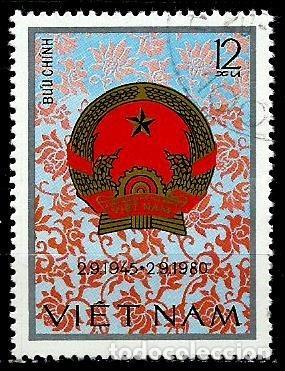 VIETNAM SCOTT: 1087-(1980) (35º ANIVERSARIO DE LA REP. SOCIALISTA DE VIETNAM) USADO (Sellos - Extranjero - Asia - Vietnam)