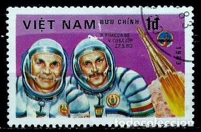 VIETNAM SCOTT: 1276-(1983) (ASTRONAUTAS: BERTALAN FARKAS Y V. KUBASOV) USADO (Sellos - Extranjero - Asia - Vietnam)