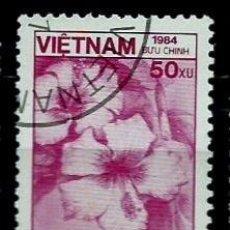 Sellos: VIETNAM SCOTT: 1466-(1984) (HIBISCUS ROSA-SINENSIS) USADO. Lote 150556674