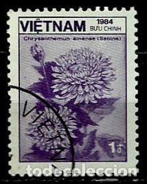 VIETNAM SCOTT: 1470-(1984) (CRISANTEMO SINENSO) USADO (Sellos - Extranjero - Asia - Vietnam)
