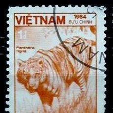 Sellos: VIETNAM SCOTT: 1473-(1984) (TIGRE (PANTHERA TIGRIS) USADO. Lote 150558678