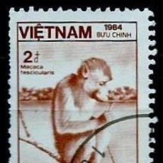 Sellos: VIETNAM SCOTT: 1475-(1984) (MACACO COMEDOR DE CANGREJO (MACACA FASCICULARIS) USADO. Lote 150559102