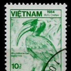 Sellos: VIETNAM SCOTT: 1478-(1984) (GRAN HORNBILL (BUCEROS BICORNIS) USADO. Lote 150559598