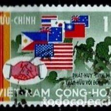 Sellos: VIETNAM-SUR SCOTT: 327-(1968) (LUCHADORES Y BANDERAS DE SIAM) USADO. Lote 150562462