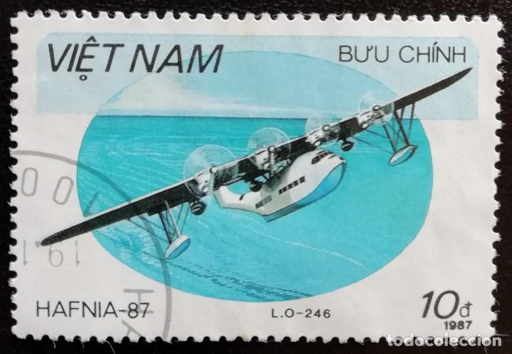 1987. AVIONES. VIETNAM. 835. EXPO FILATÉLICA COPENHAGUE. USADO. (Sellos - Extranjero - Asia - Vietnam)