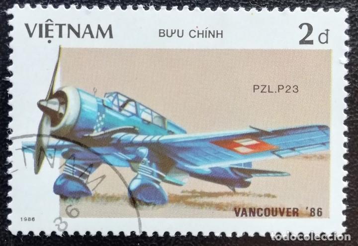 1986. AVIONES. VIETNAM. 695. EXPO FILATÉLICA VANCOUVER. USADO. (Sellos - Extranjero - Asia - Vietnam)