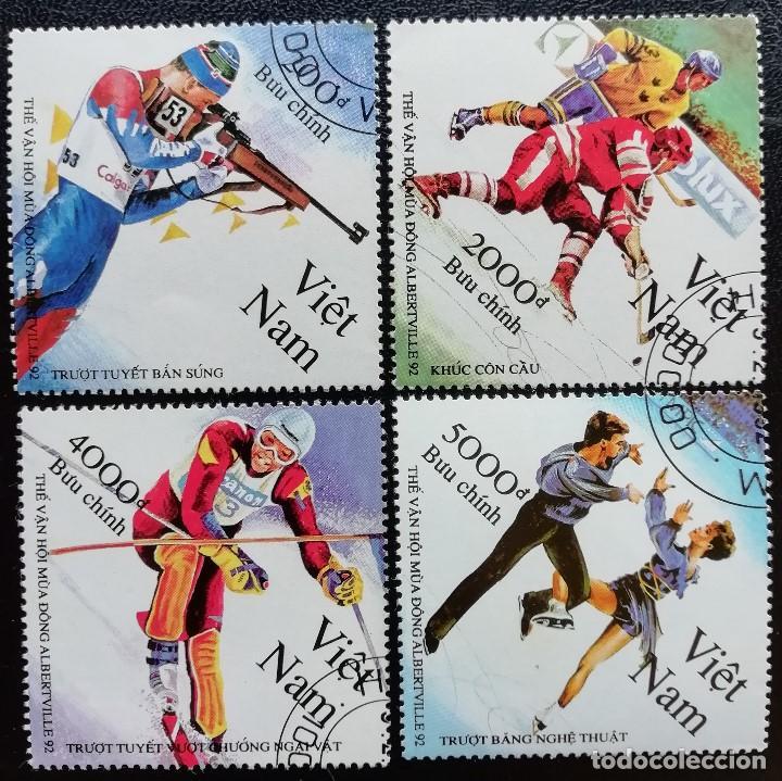 1992. DEPORTES. VIETNAM. 1269 / 1273. JUEGOS OLÍMPICOS ALBERTVILLE. SERIE CORTA. USADO. (Sellos - Extranjero - Asia - Vietnam)