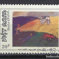 Timbres: VIETNAM 1988 - DIBUJOS INFANTILES - SELLO USADO. Lote 174246512
