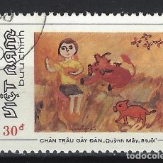 Timbres: VIETNAM 1988 - DIBUJOS INFANTILES - SELLO USADO. Lote 174246638