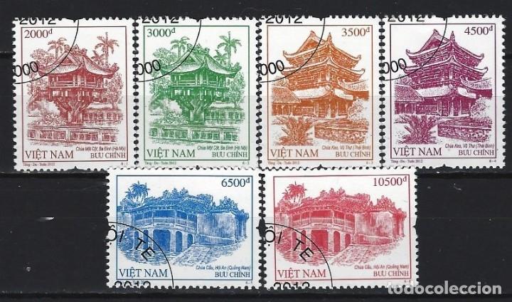 VIETNAM 2012 - PAGODAS DE VIETNAM, S.COMPLETA - SELLOS USADOS (Sellos - Extranjero - Asia - Vietnam)