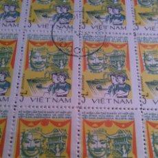 Sellos: 100 SELLOS EN HOJA, VIETNAN. Lote 177249604