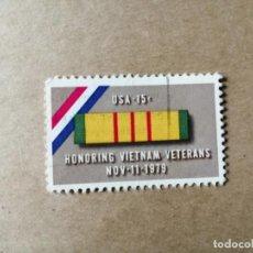 Sellos: VIETNAM - USA 15 C - HONRANDO A LOS VETERANOS DE VIETNAM NOV-11-1979. Lote 192359163