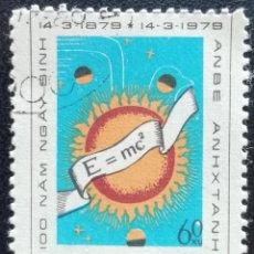 Sellos: 1979. VIETNAM. 165 / 166. 100 AÑOS DEL NACIMIENTO ALBERT EINSTEIN. FÓRMULA DE LA RELATIVIDAD. USADO.. Lote 193686246