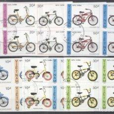 Sellos: VIETNAM 1989 BICYCLES X 4, IMPERF., USED N.032. Lote 198280015