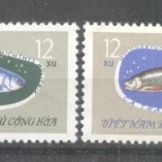 Sellos: VIETNAM 1963 FISHES, USED G.001. Lote 198280278