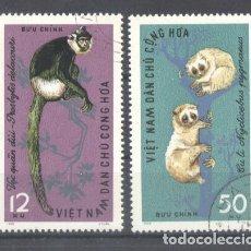 Sellos: VIETNAM 1965 MONKEYS, USED E.126. Lote 198280677