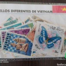 Sellos: LOTE DE 50 SELLOS DIFERENTES DE VIETNAM. Lote 201304417