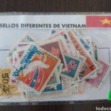 Sellos: LOTE DE 50 SELLOS DIFERENTES DE VIETNAM. Lote 201304686