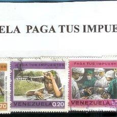 Sellos: LOTE DE SELLOS DE VENEZUELA PAGO DE IMPUESTOS. Lote 203017760