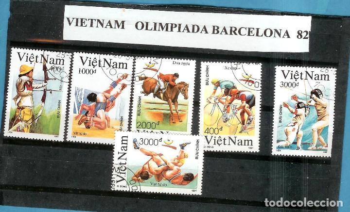 LOTE DE SELLOS DE VIETNAM. BARCELONA 1992 (Sellos - Extranjero - Asia - Vietnam)
