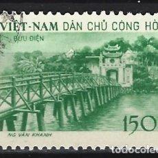 Sellos: VIETNAM DEL NORTE 1958 - TEMPLO DE JADE Y PUENTE DE HUC, HANOI - SELLO USADO. Lote 207859796