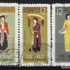 Sellos: VIETNAM DEL NORTE 1964 - TRAJES TRADICIONALES, S.COMPLETA - USADOS. Lote 214069803
