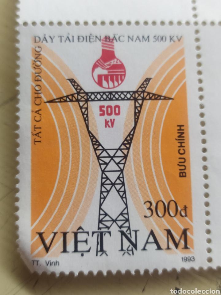 Sellos: Lote de 3 sellos de Vietnam nuevos / - Foto 4 - 217304241