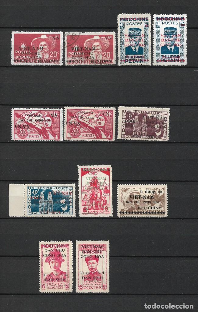 Sellos: VIETNAM 1945-1946 INDOCHINA NUEVOS SIN GOMA 2 PAGINAS - 17/35 - Foto 2 - 185964968
