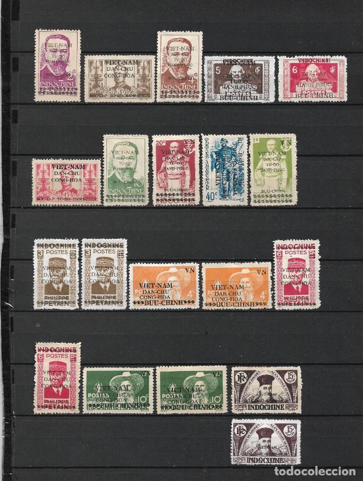 VIETNAM 1945-1946 INDOCHINA NUEVOS SIN GOMA 2 PAGINAS - 17/35 (Sellos - Extranjero - Asia - Vietnam)