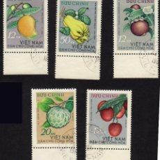 Sellos: ASIA. VIETNAM. FRUTOS. 1964. USADOS SIN CHARNELA. Lote 224514231