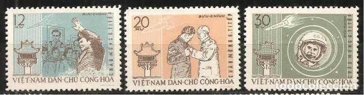 VIETNAM, 278/80, ESPACIO, NUEVO SIN SEÑAL DE FIJASELLOS (Sellos - Extranjero - Asia - Vietnam)