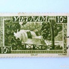 Sellos: SELLO POSTAL VIETNAM (DEL SUR) 1951, 5 P, CASCADA BONGOUR , DA LAT, USADO. Lote 234127670