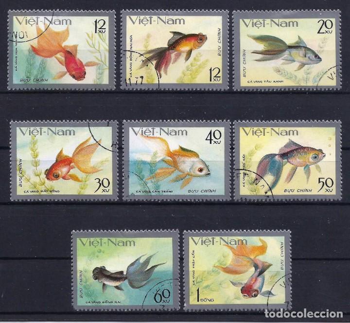 VIETNAM 1977 - YT 72/9º - PECES - USADO (Sellos - Extranjero - Asia - Vietnam)